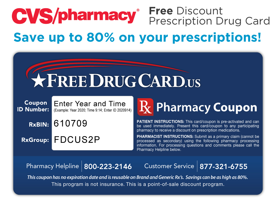 cvs pharmacy discount prescription card