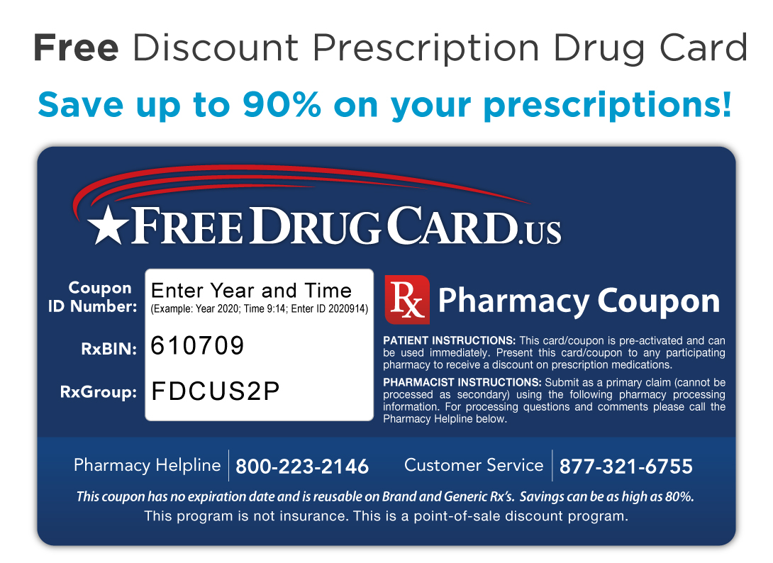 Rite Aid Pharmacy Discount Drug Card - Save up to 75% on prescriptions!