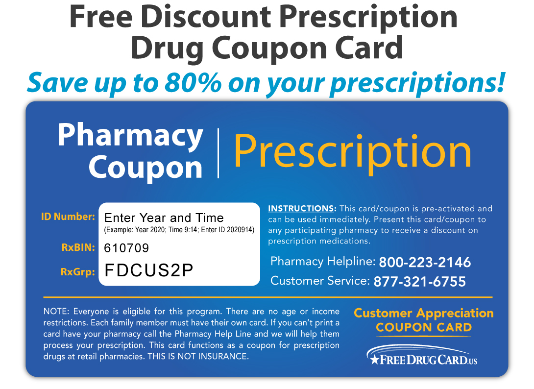 Prescription drugs discount coupons