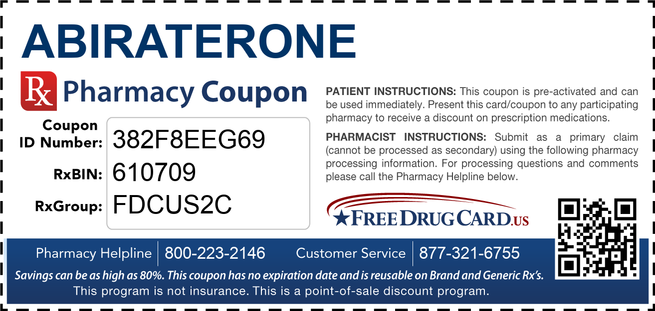 Discount Abiraterone Pharmacy Drug Coupon