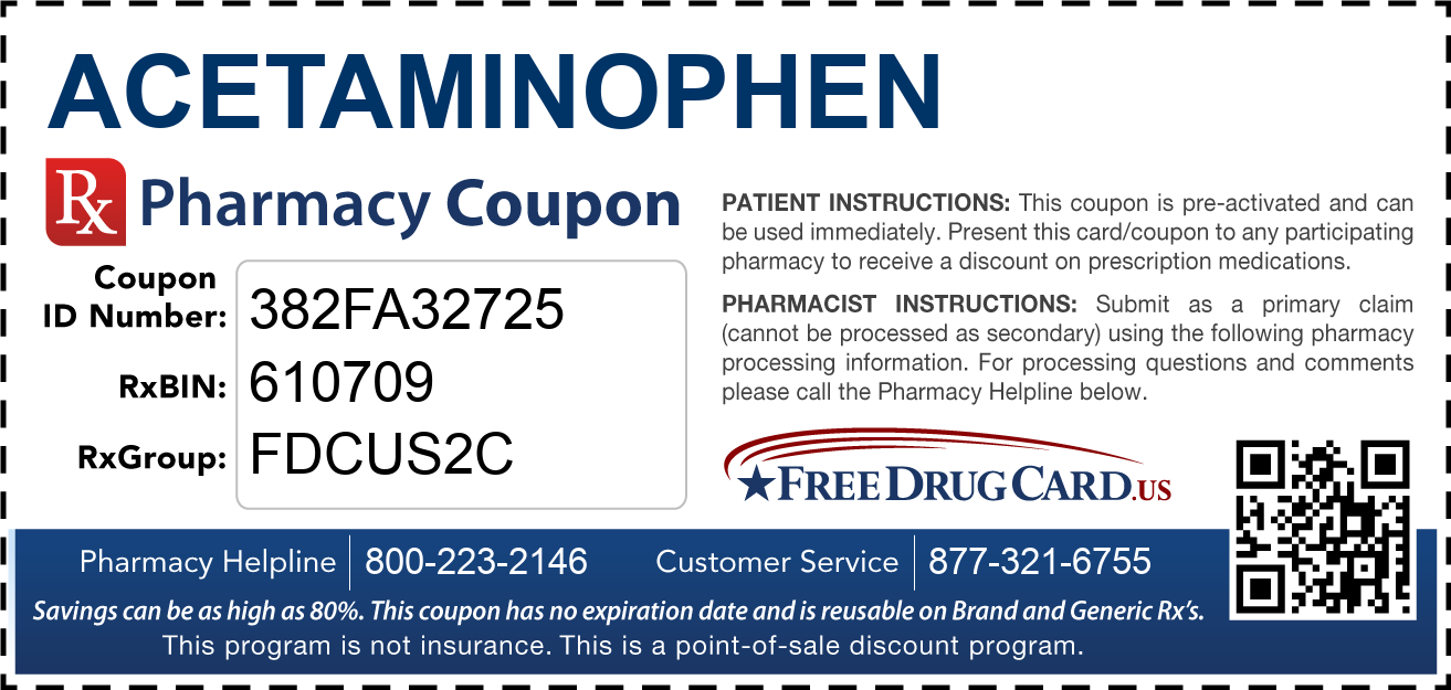 Discount Acetaminophen Pharmacy Drug Coupon
