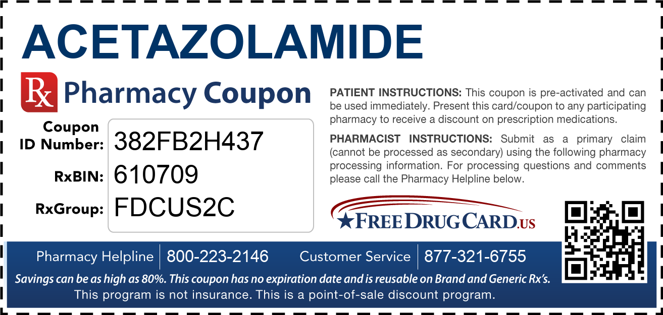 Discount Acetazolamide Pharmacy Drug Coupon