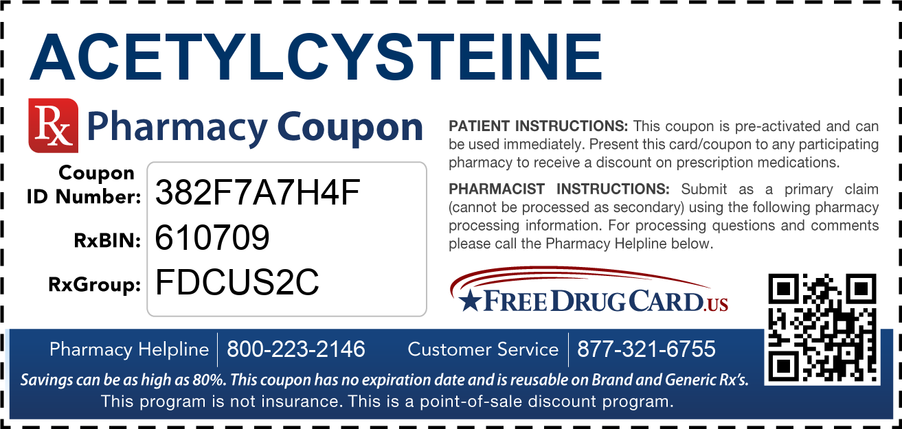 Discount Acetylcysteine Pharmacy Drug Coupon