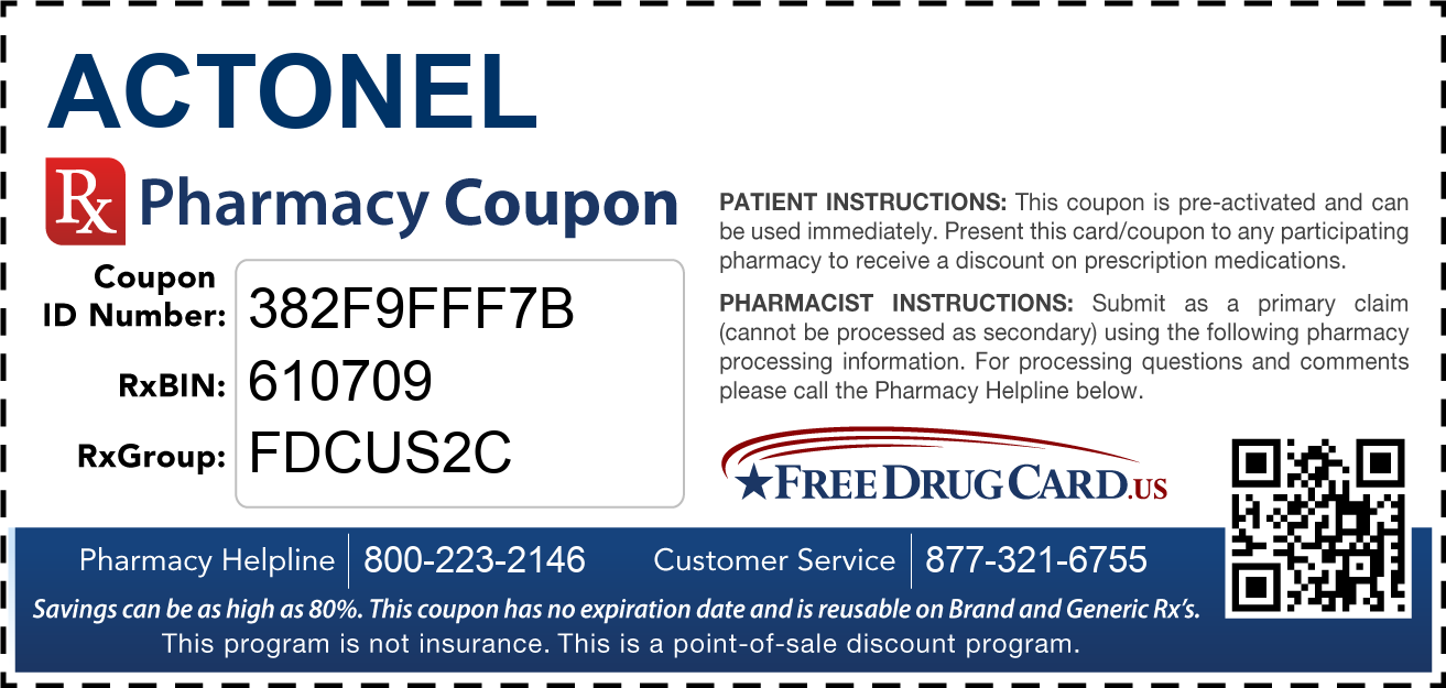 Discount Actonel Pharmacy Drug Coupon