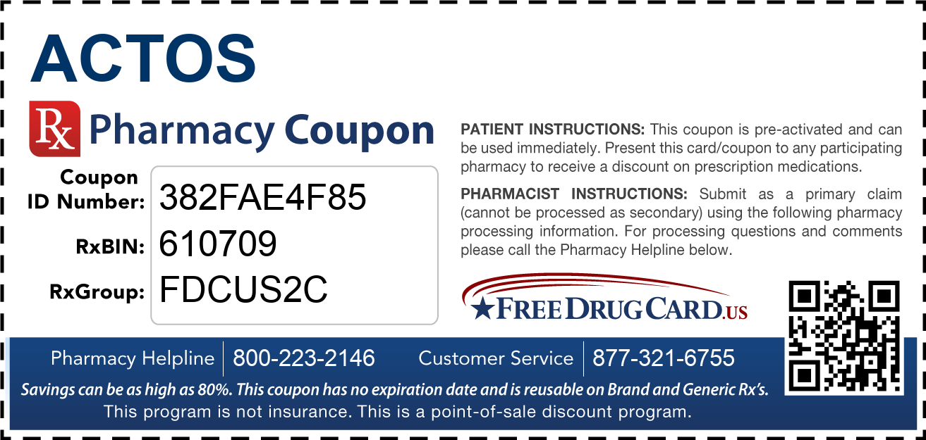 Discount Actos Pharmacy Drug Coupon