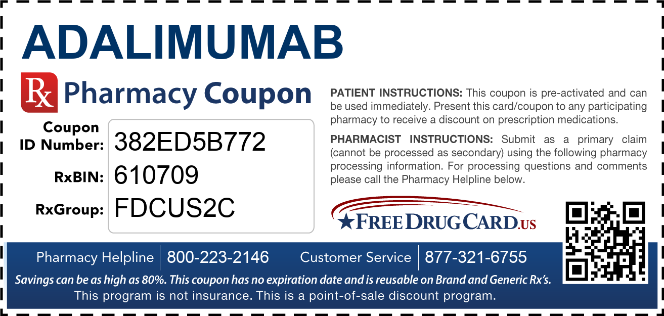 Discount Adalimumab Pharmacy Drug Coupon