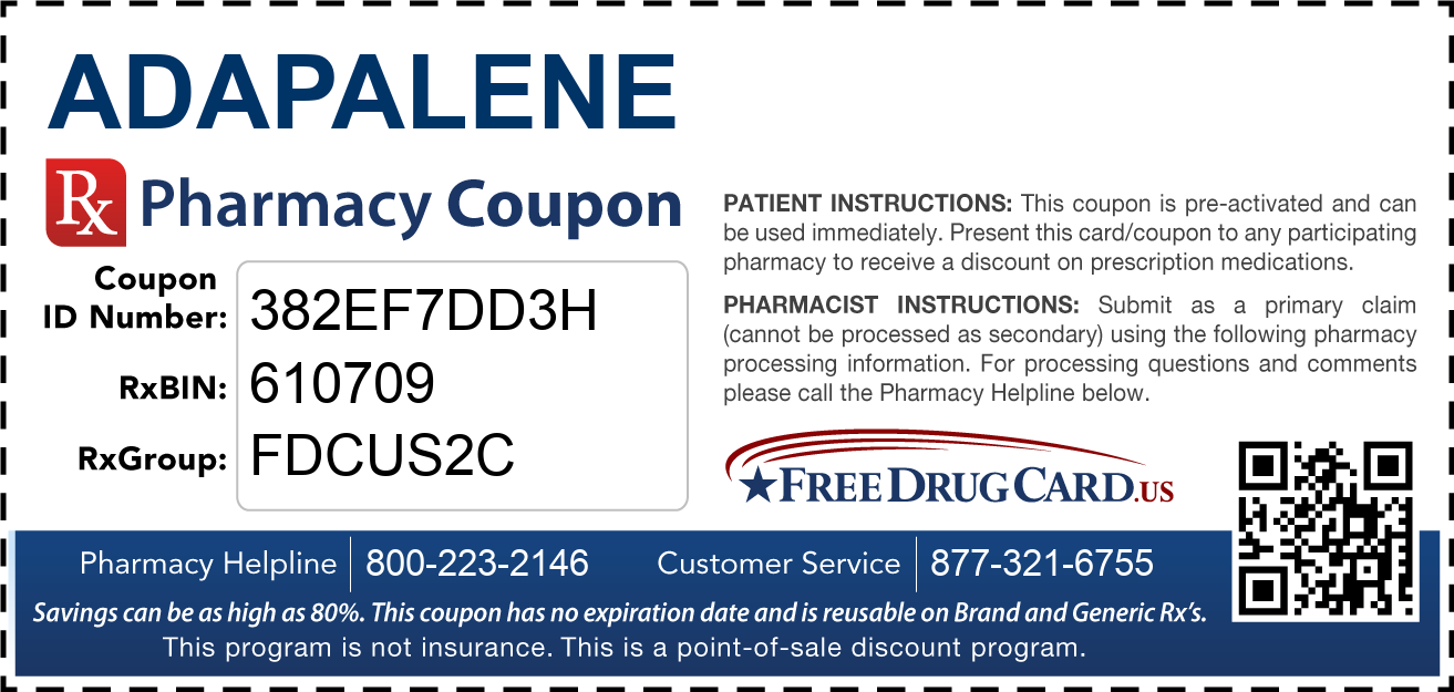 Discount Adapalene Pharmacy Drug Coupon