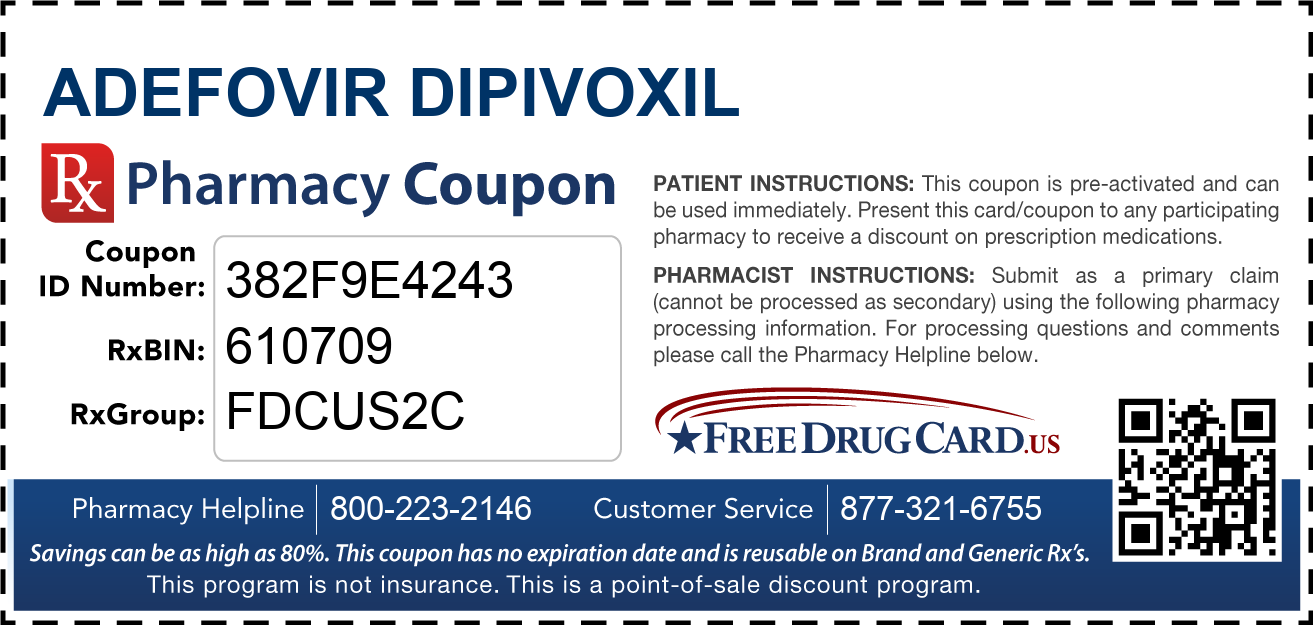 Discount Adefovir Dipivoxil Pharmacy Drug Coupon