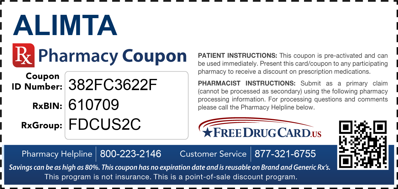 Discount Alimta Pharmacy Drug Coupon