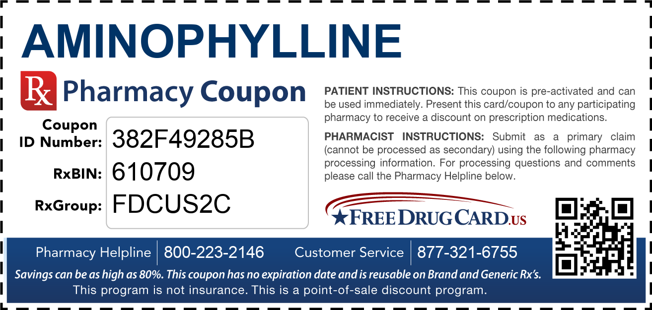 Discount Aminophylline Pharmacy Drug Coupon