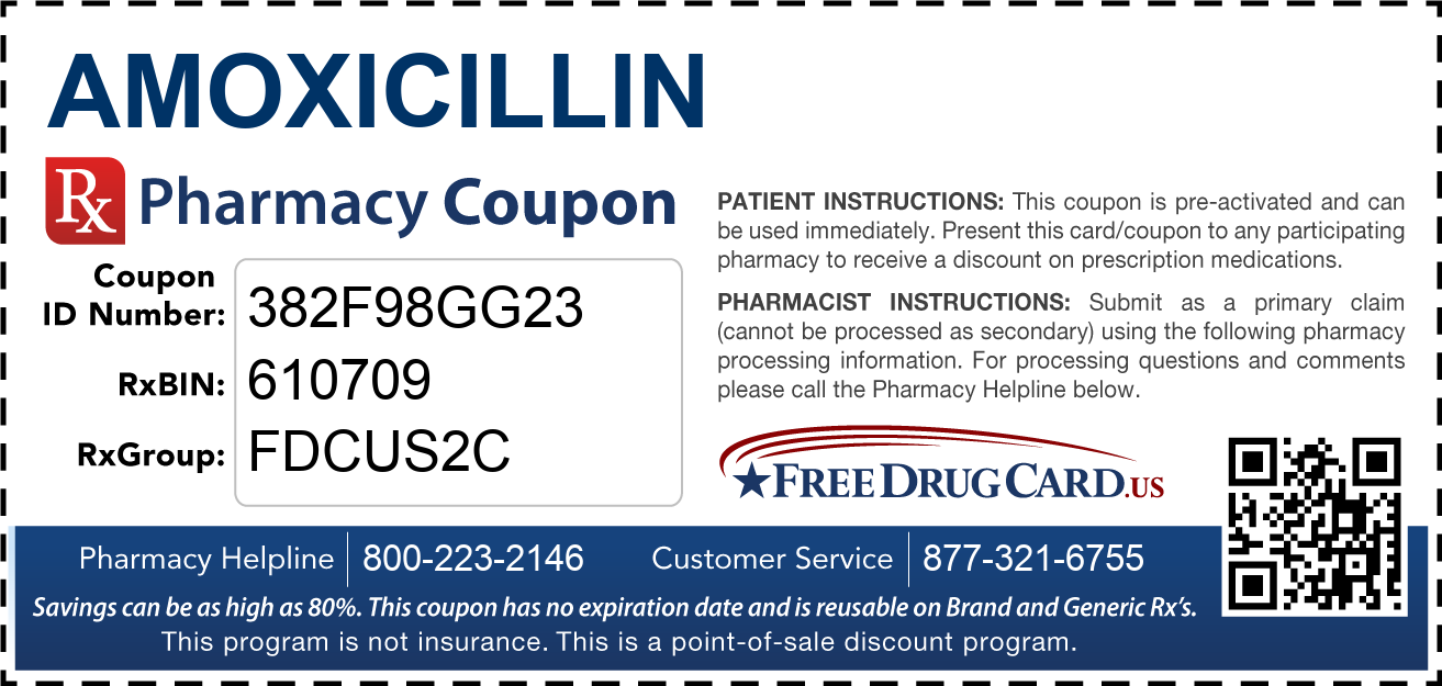 Discount Amoxicillin Pharmacy Drug Coupon