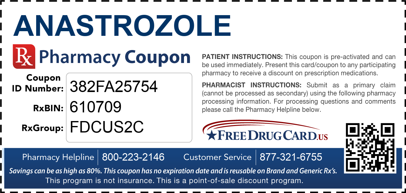 Discount Anastrozole Pharmacy Drug Coupon