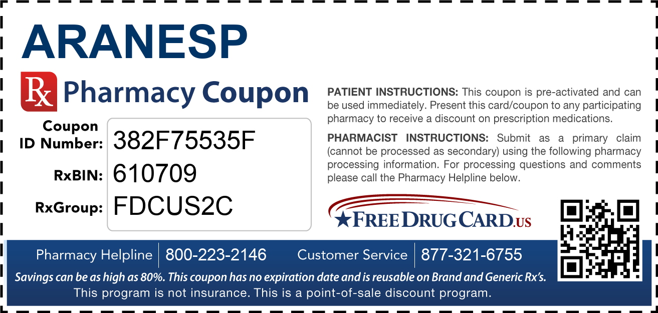 Discount Aranesp Pharmacy Drug Coupon