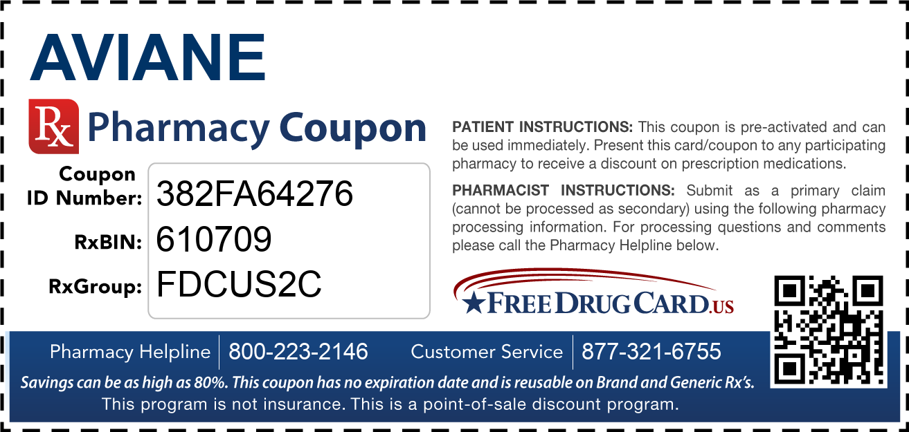 Discount Aviane Pharmacy Drug Coupon