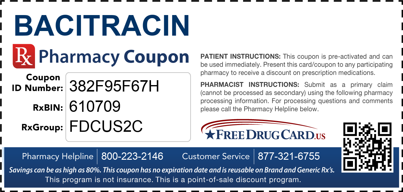 Discount Bacitracin Pharmacy Drug Coupon
