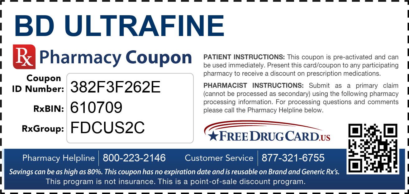 Discount BD Ultrafine Pharmacy Drug Coupon
