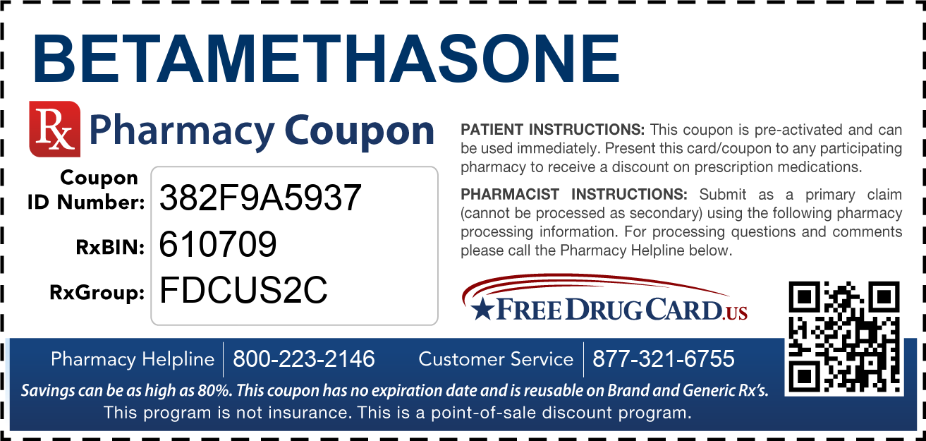 Discount Betamethasone Pharmacy Drug Coupon