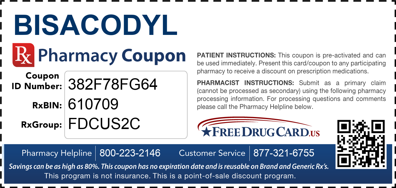 Discount Bisacodyl Pharmacy Drug Coupon