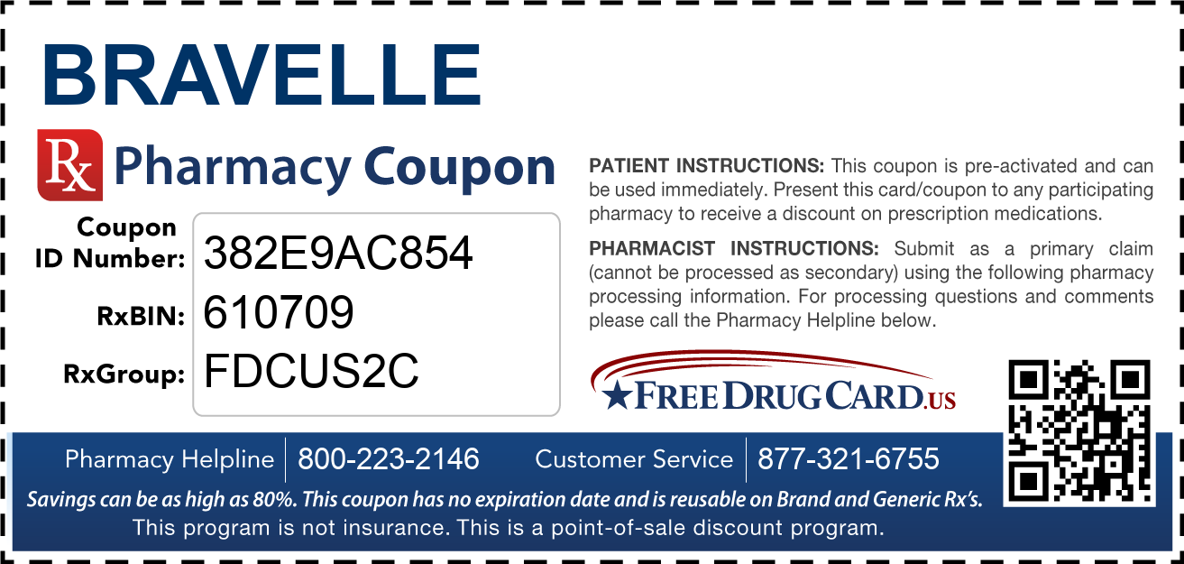 Discount Bravelle Pharmacy Drug Coupon