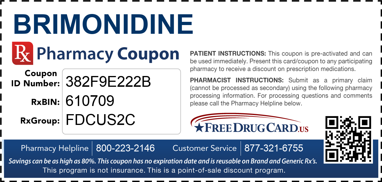 Discount Brimonidine Pharmacy Drug Coupon