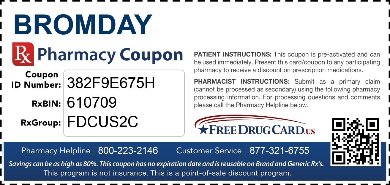 Discount Bromday Pharmacy Drug Coupon