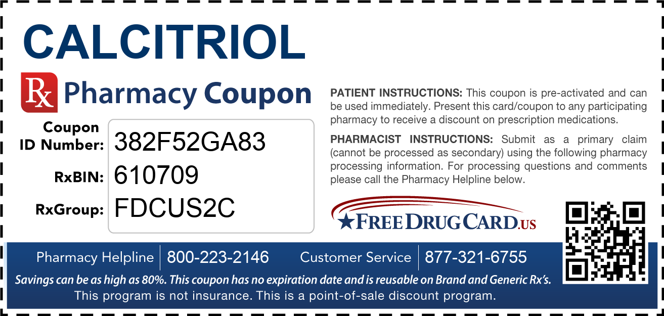 Discount Calcitriol Pharmacy Drug Coupon