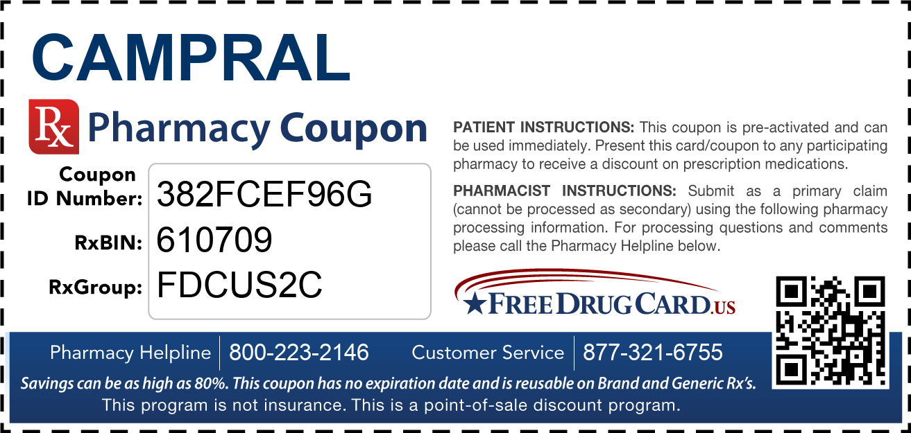 Discount Campral Pharmacy Drug Coupon