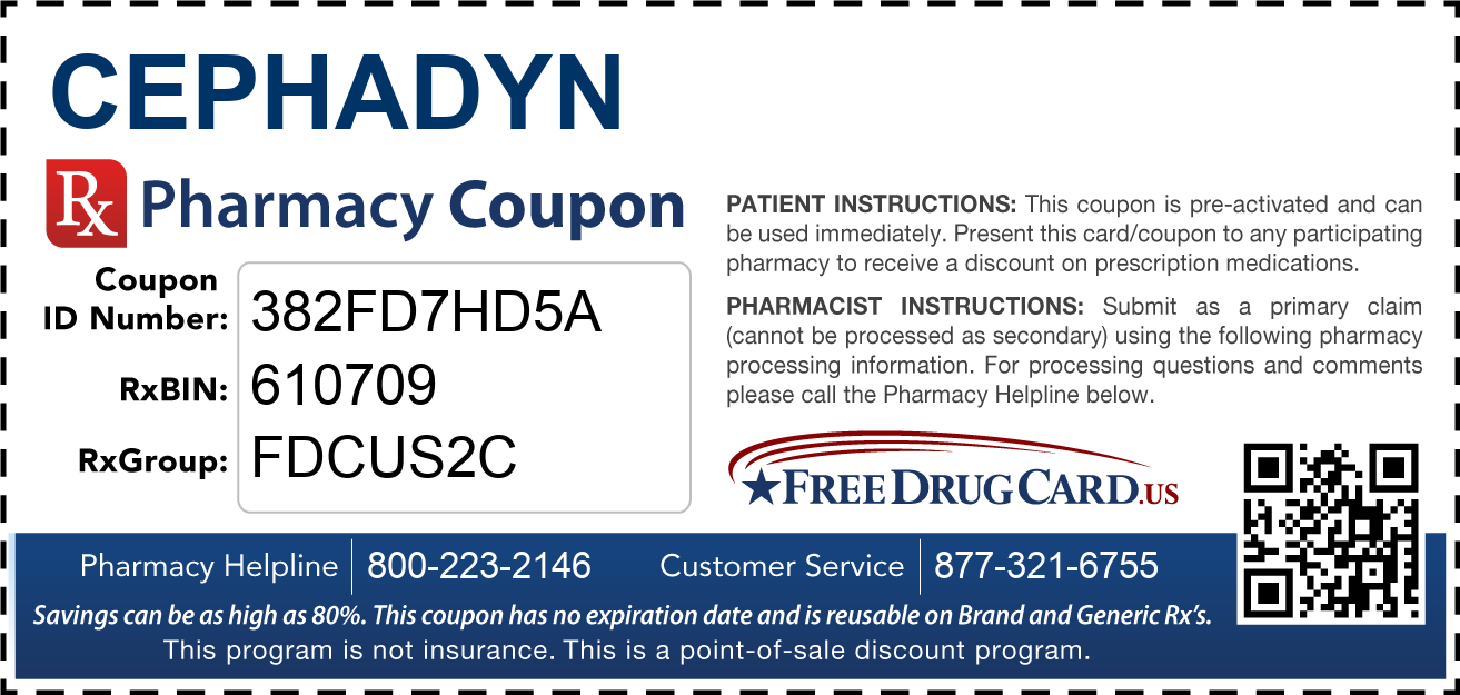 Discount Cephadyn Pharmacy Drug Coupon