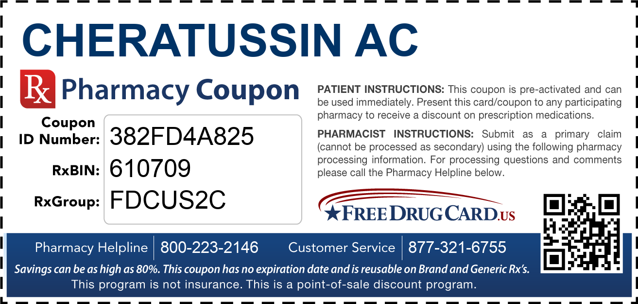 Discount Cheratussin AC Pharmacy Drug Coupon