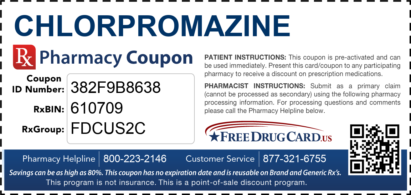 Discount Chlorpromazine Pharmacy Drug Coupon