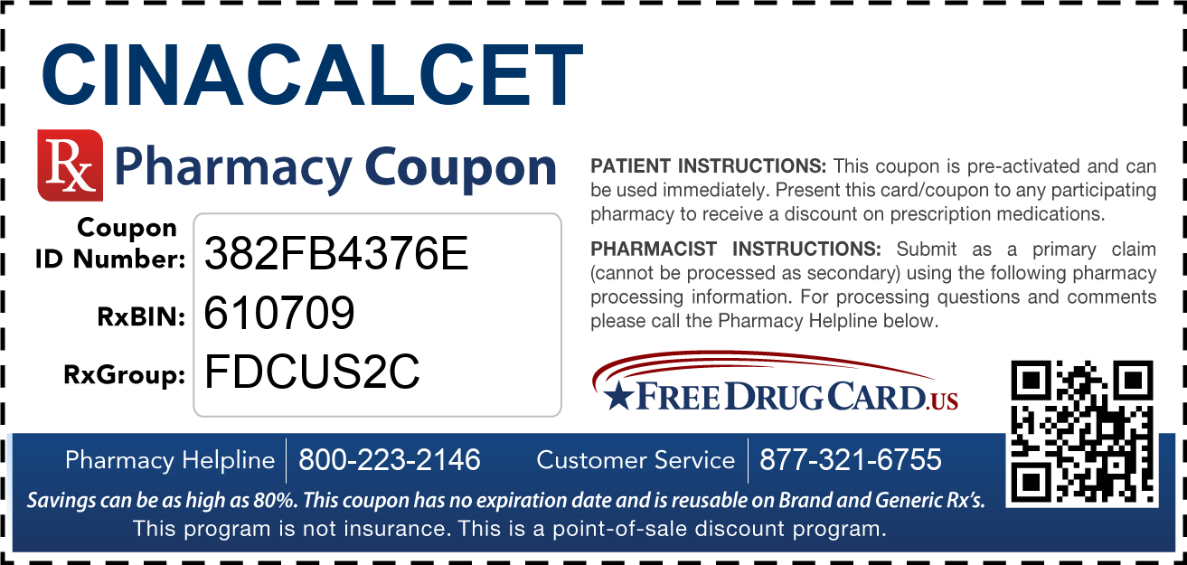 Discount Cinacalcet Pharmacy Drug Coupon
