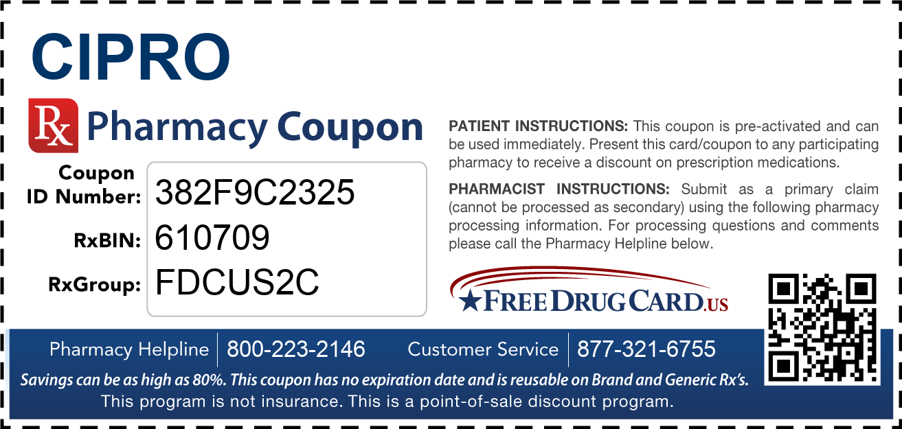 Discount Cipro Pharmacy Drug Coupon