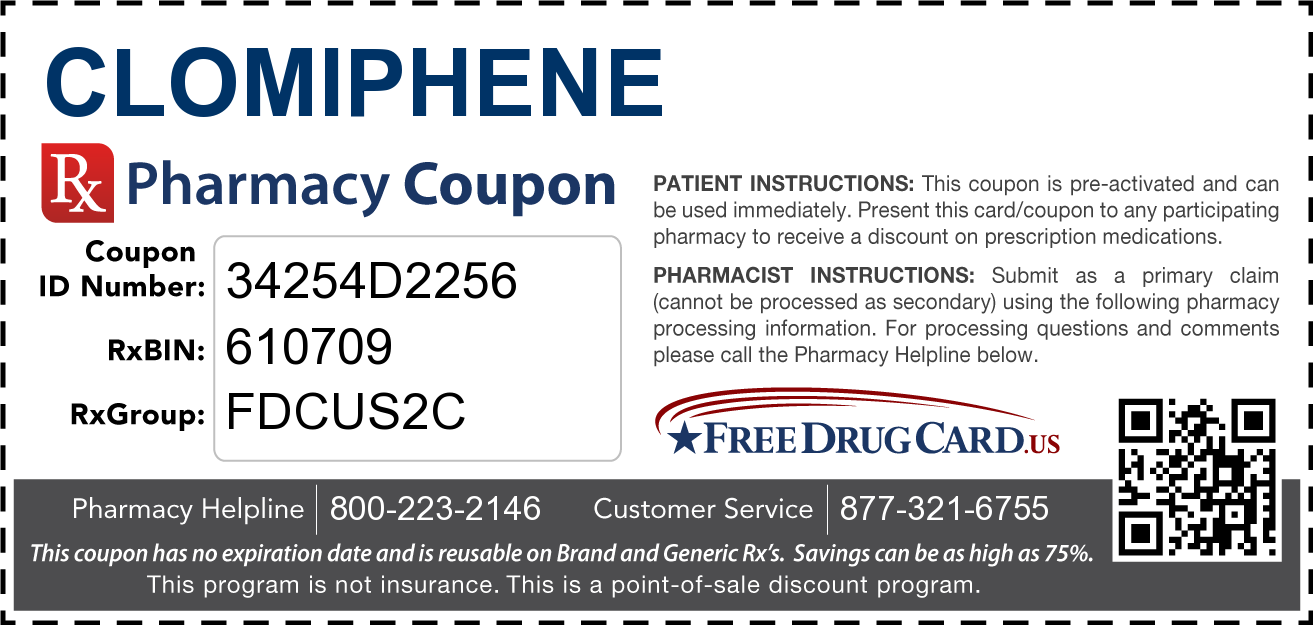 Discount Clomiphene Pharmacy Drug Coupon