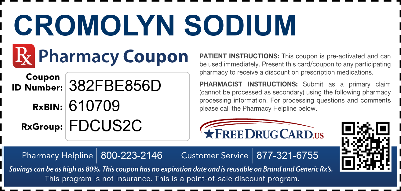 Discount Cromolyn Sodium Pharmacy Drug Coupon