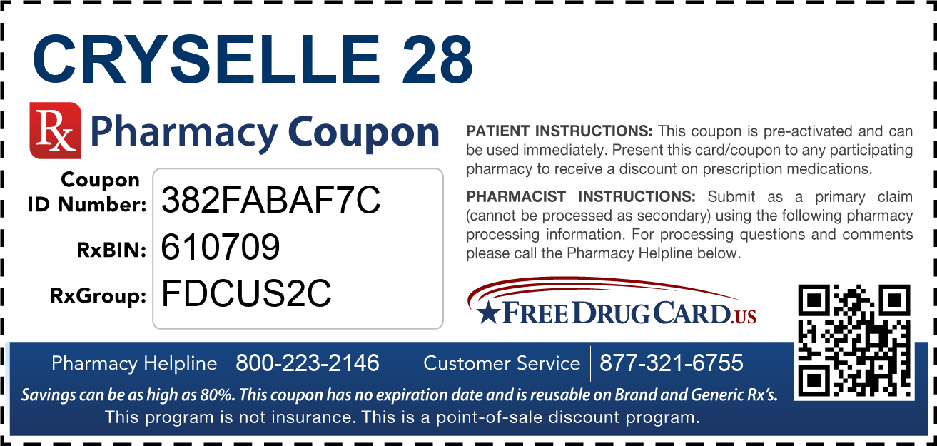 Discount Cryselle 28 Pharmacy Drug Coupon