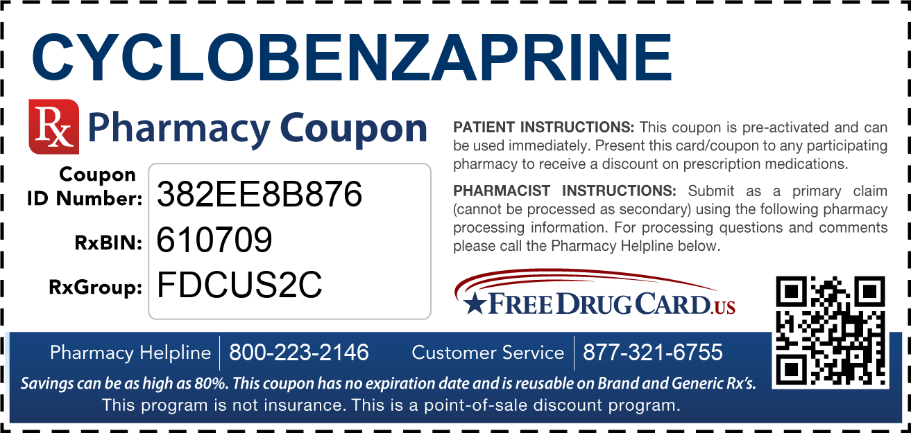 Discount Cyclobenzaprine Pharmacy Drug Coupon
