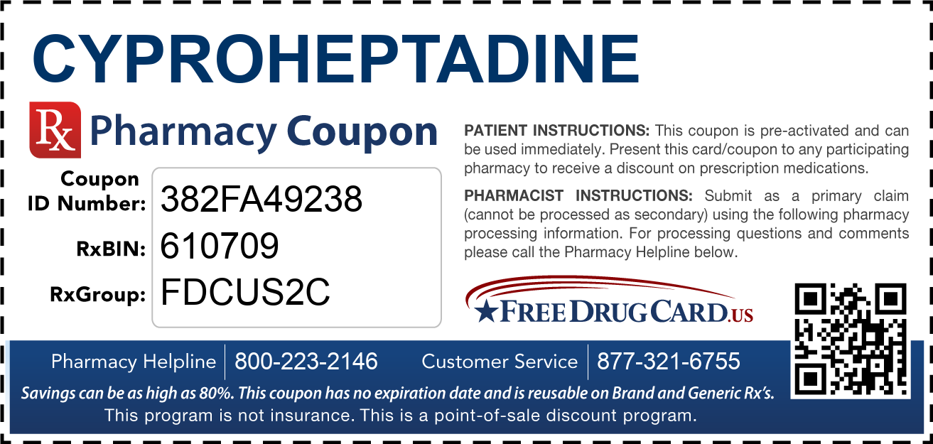 Discount Cyproheptadine Pharmacy Drug Coupon