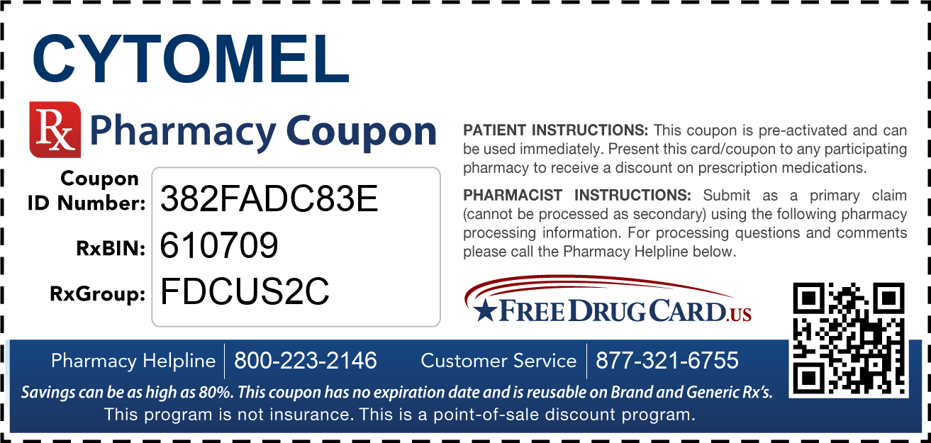 Discount Cytomel Pharmacy Drug Coupon