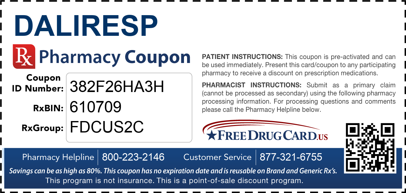 Discount Daliresp Pharmacy Drug Coupon
