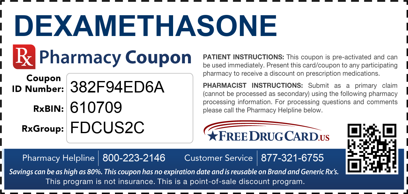 Discount Dexamethasone Pharmacy Drug Coupon