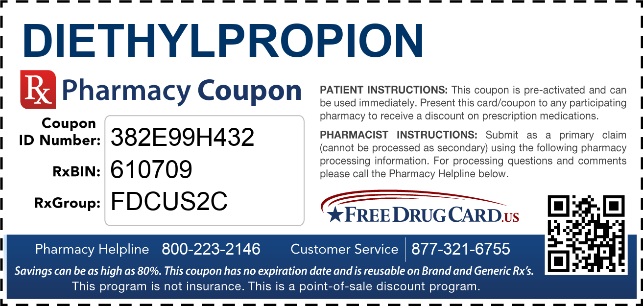 Discount Diethylpropion Pharmacy Drug Coupon
