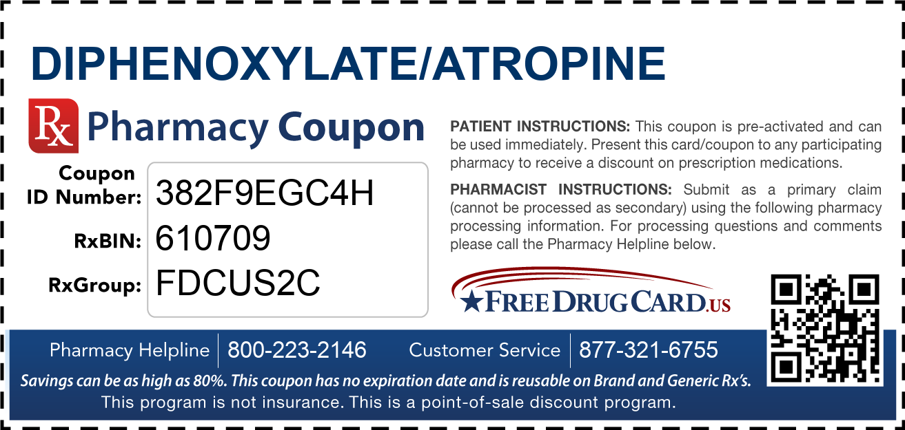 Discount Diphenoxylate/Atropine Pharmacy Drug Coupon