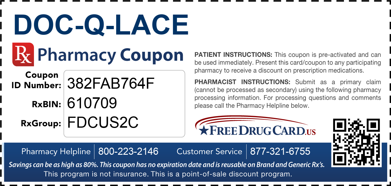 Discount Doc-Q-Lace Pharmacy Drug Coupon
