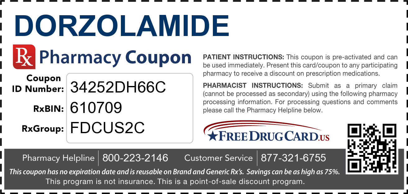 Discount Dorzolamide Pharmacy Drug Coupon