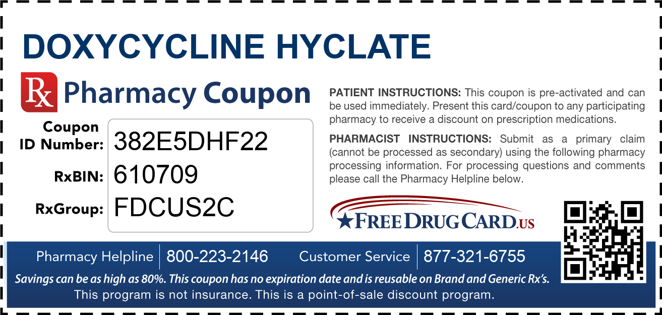 Discount Doxycycline Hyclate Pharmacy Drug Coupon