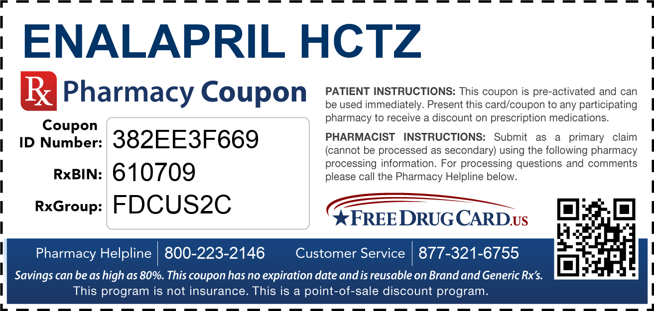 Discount Enalapril HCTZ Pharmacy Drug Coupon