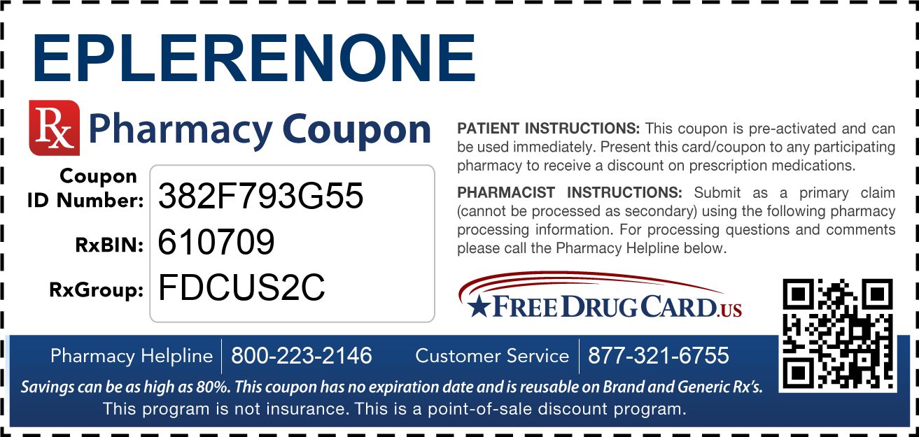 Discount Eplerenone Pharmacy Drug Coupon