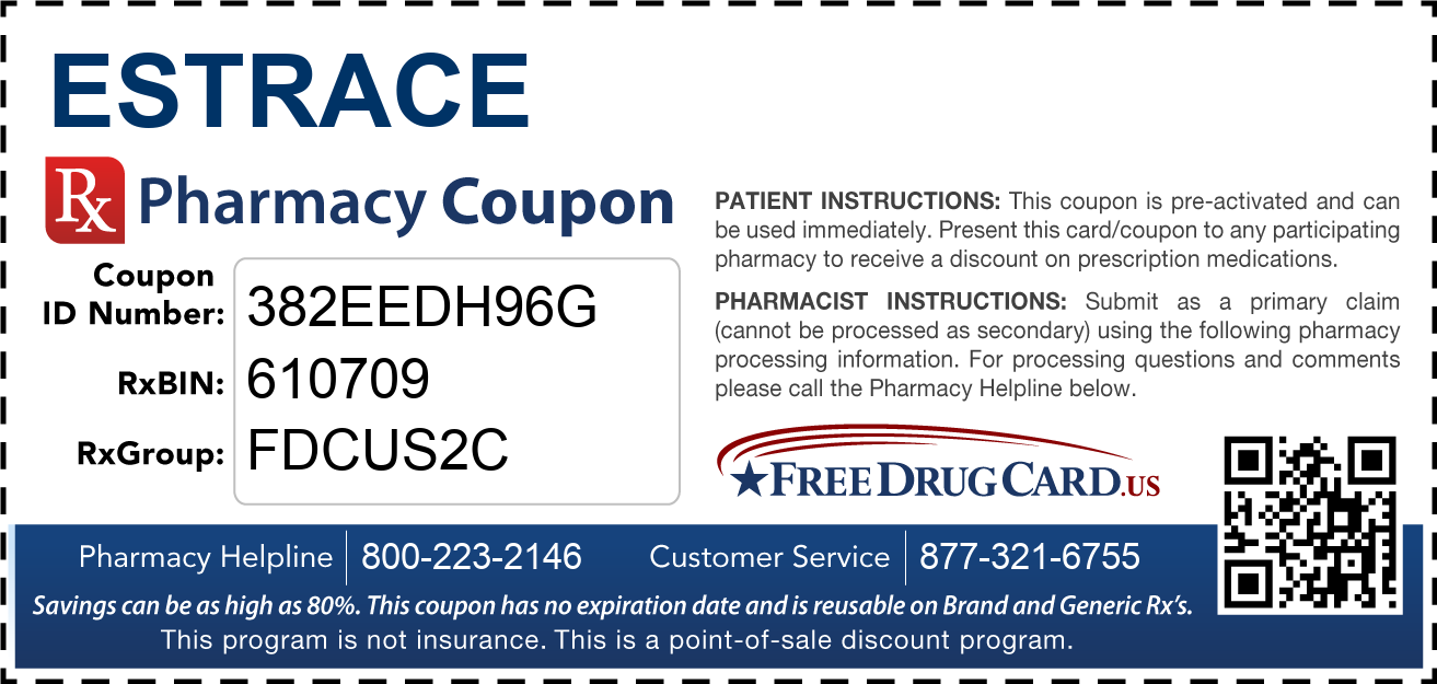 Discount Estrace Pharmacy Drug Coupon