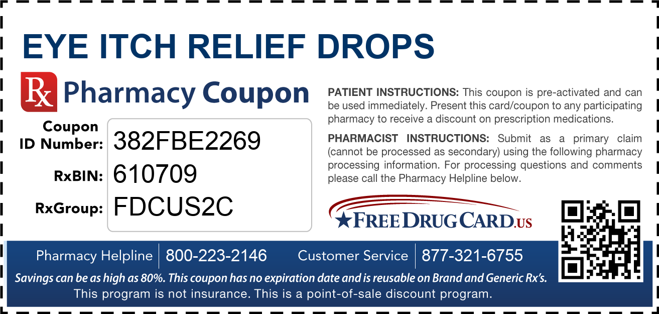 Discount Eye Itch Relief Drops Pharmacy Drug Coupon