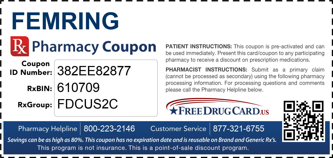 Discount Femring Pharmacy Drug Coupon